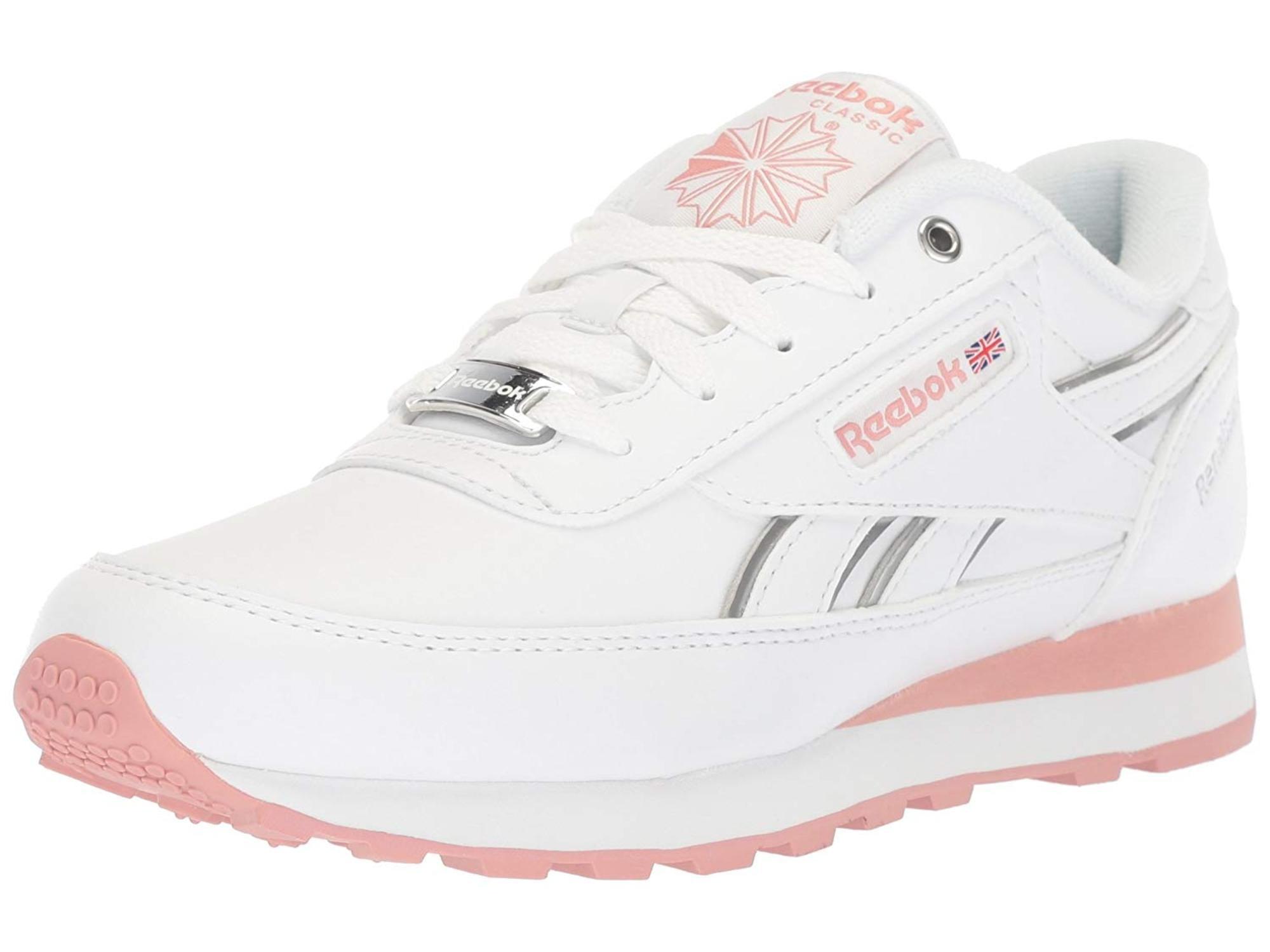 White/Chalk Pink/Silver, Size 8.0