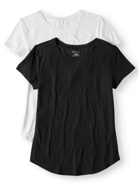 5d301f644c00aa Product Image Juniors' Short Sleeve Brushed Round Neck Tee, 2-Pack Bundle
