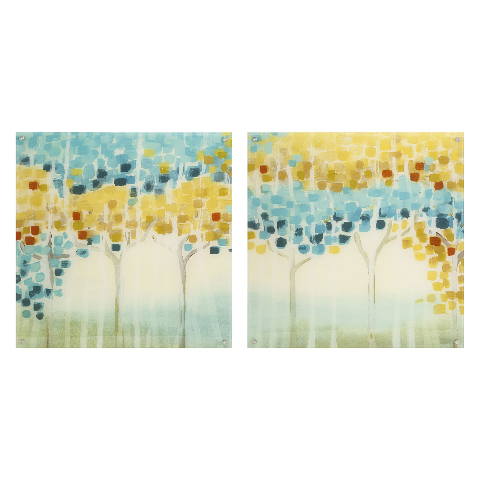 IMAX Forest Mosaic Wall Art - Set of 2