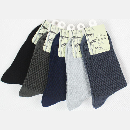 5 Pairs Men Cotton And Bamboo Fiber Socks Casual Anti-Bacterial Deodorant Summer