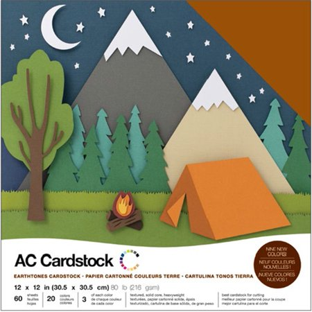 American Crafts Variety Cardstock Pack 12
