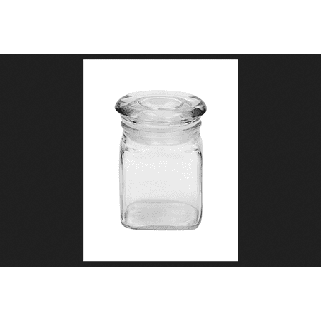 Anchor Hocking 95943 4 oz Square Fountain Jars with Covers 6 Count, Pack of 6