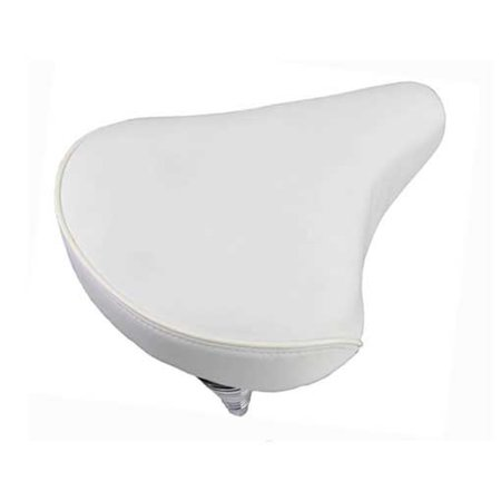Beach Cruisers Saddle 209 White. Bike seat, bicycle seat, Bike part, bicycle part, beach cruiser seat, chopper fixie, road (White Bike Seat)