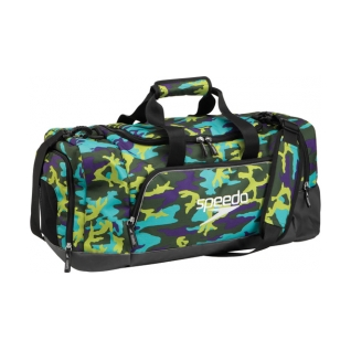 Speedo 38L Teamster Duffle Bag Swim Swimming Gear Towels Sport Equipment, Black by Speedo