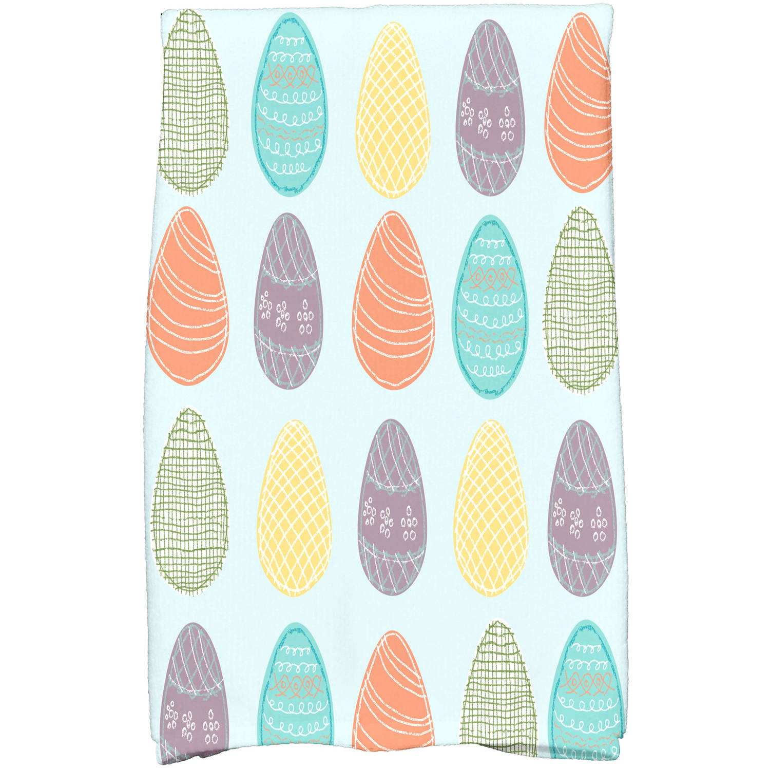 "Simply Daisy 16"" x 25"" Eggs-ellent! Holiday Geometric Print Kitchen Towel"