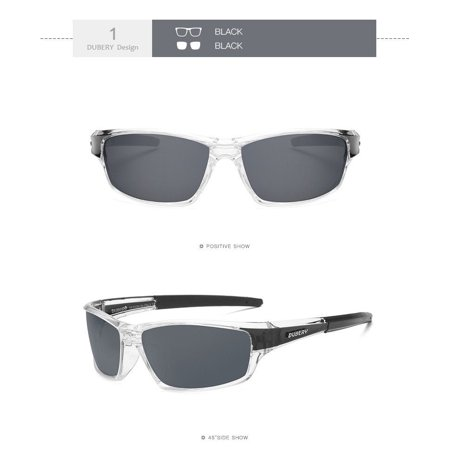 e997bf5038 Dubery Polarized Sunglasses Mens Sport Transparent Golfing Driving Glasses  - Walmart.com