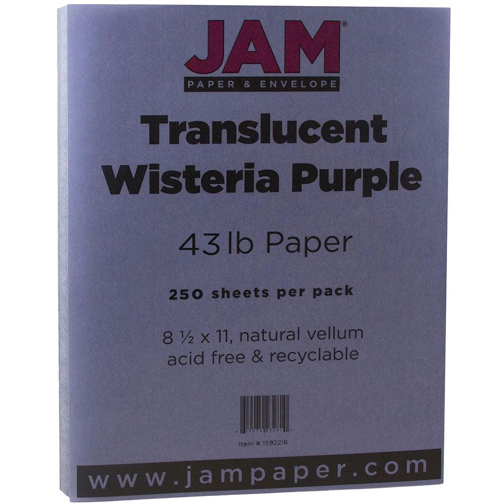 """JAM Translucent Vellum Cardstock, 8.5"""" x 11"""", 43lb Wister..."""