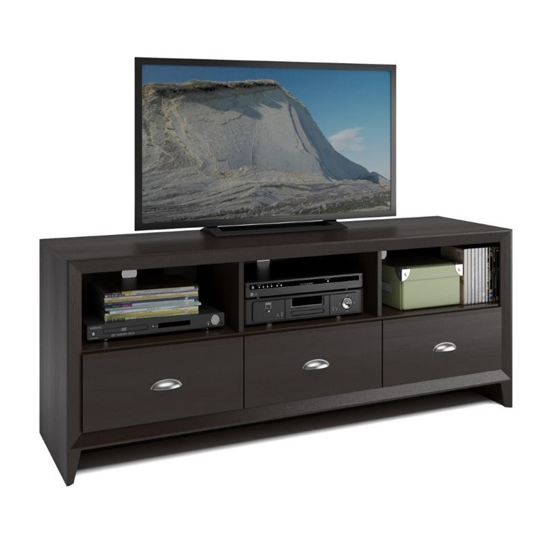 "CorLiving Kansas 59"" TV Stand in Espresso - image 4 de 4"