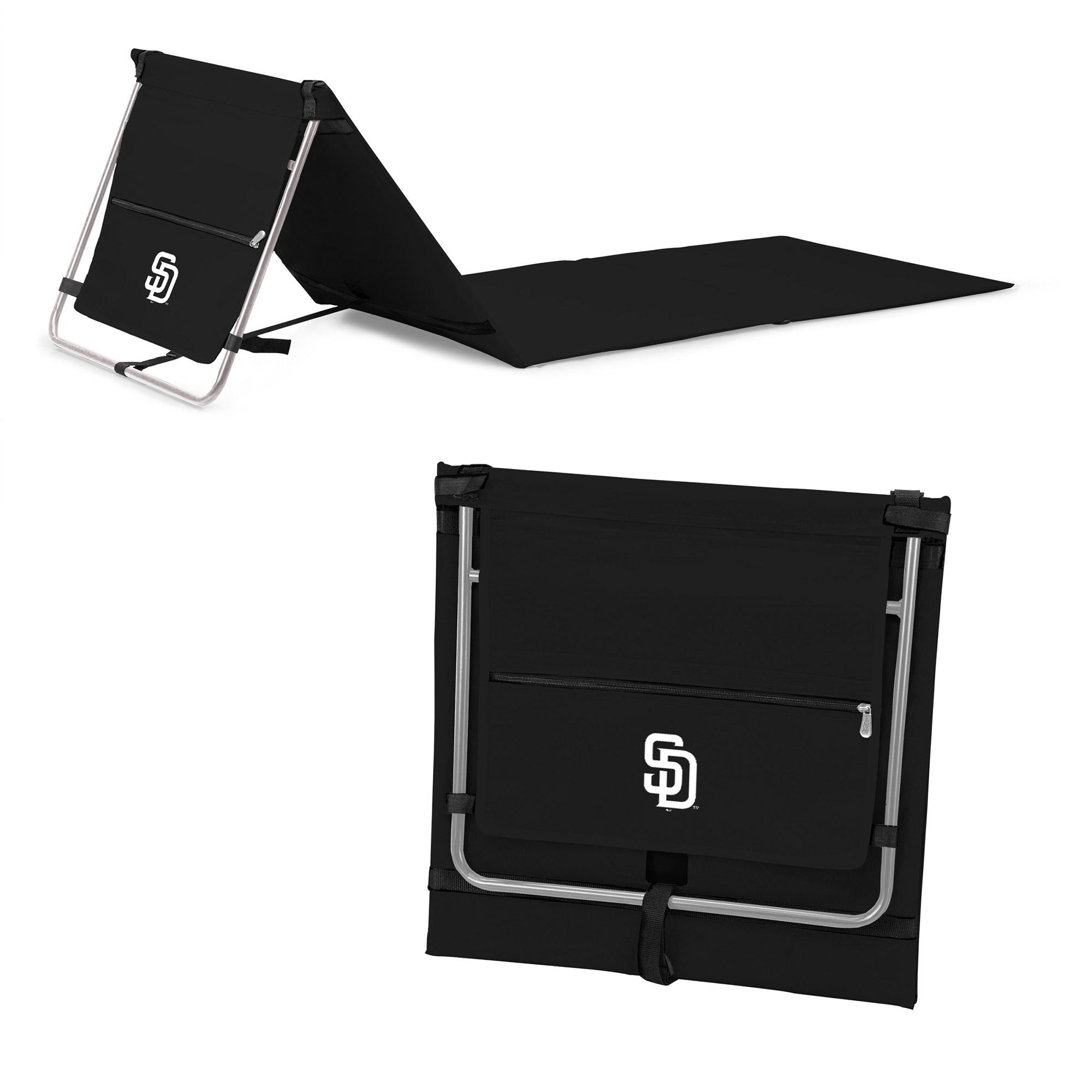 San Diego Padres Portable Lounger Beach Mat - Black - No Size