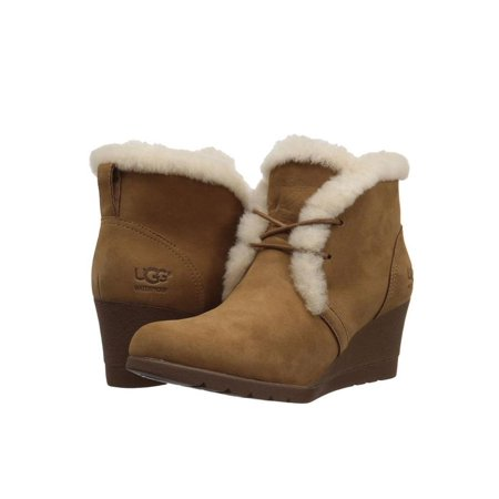 UGG Jeovana Women's Shoes Lace Up Wedge Bootie 1017421 Chestnut](Contact Ugg)