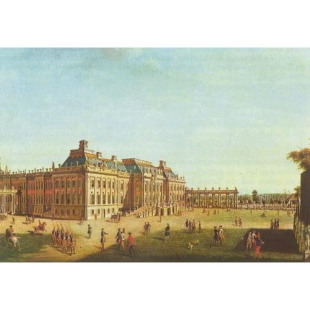 Framed Art for Your Wall Meyer, Johann Friedrich - Potsdam, City Palace, garden side 10 x 13 (Myer In The City)
