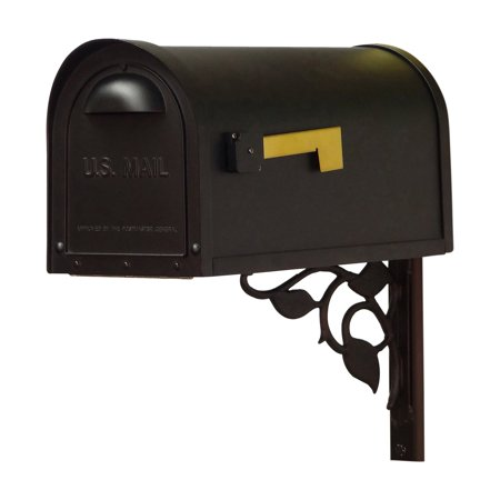 Special Lite Products Classic Curbside Mailbox with Floral Mailbox Mounting Bracket