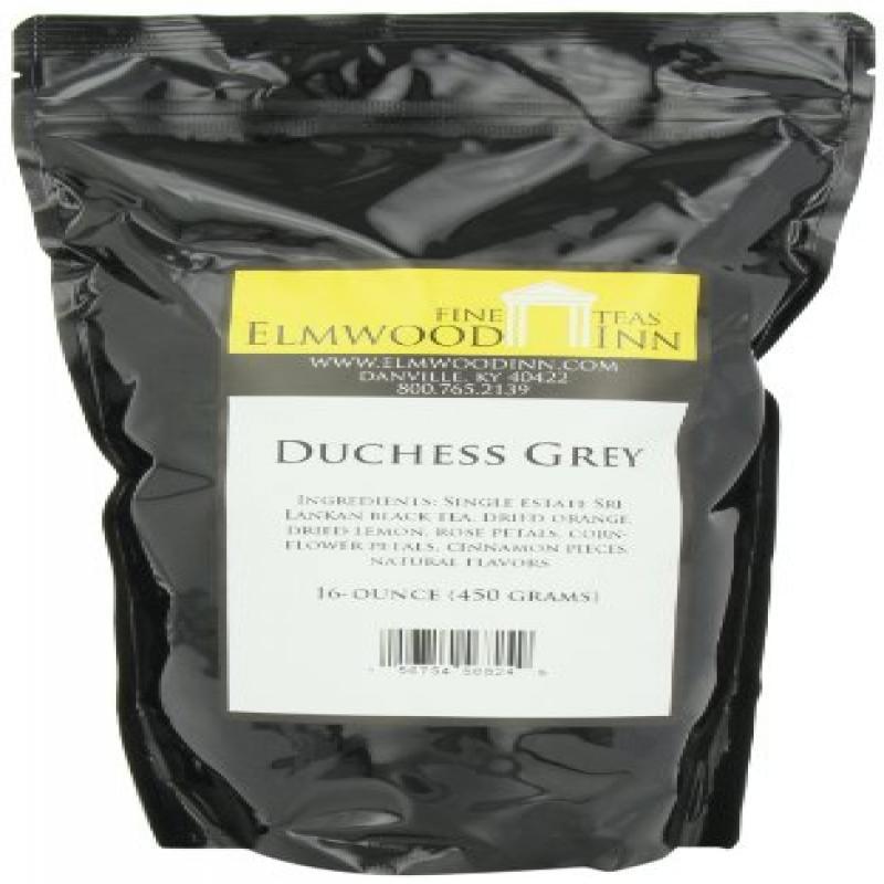 Elmwood Inn Fine Teas, Duchess Grey Black Tea, 16-Ounce Pouch