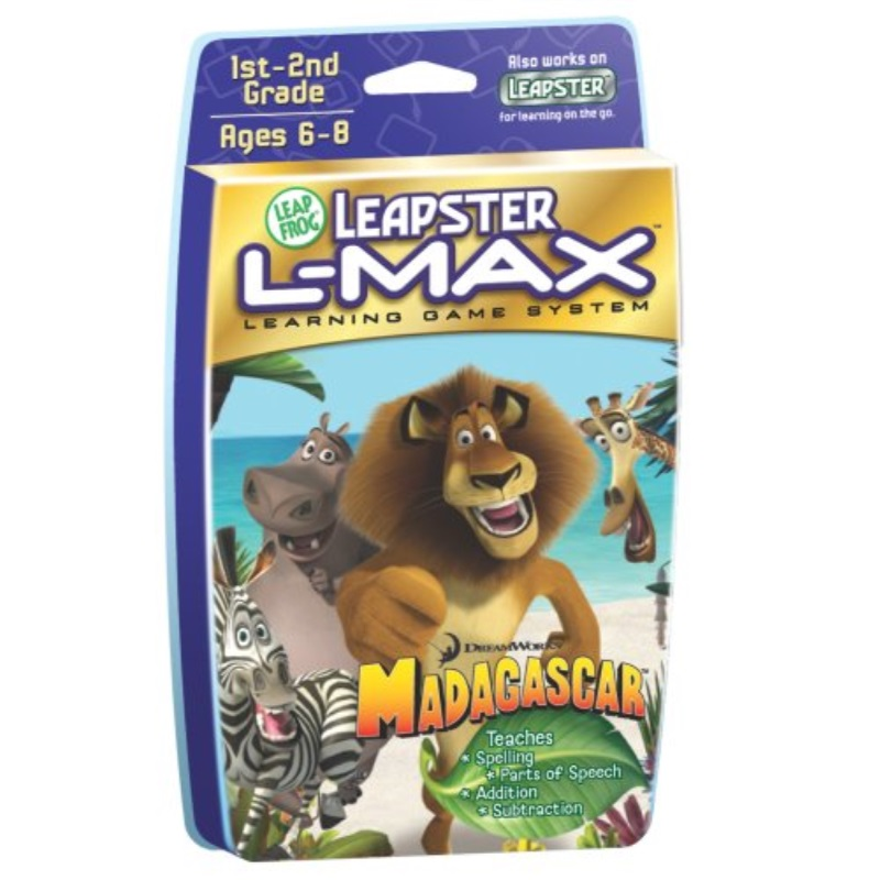 LeapFrog Leapster L-Max Educational Game: Madagascar by
