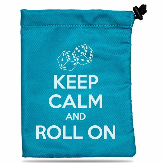 Ultra Pro ULP85045 6.25 in. x 8.5 in. Treasure Nest - Keep Calm Dice Bag