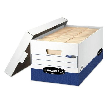 Bankers Box 0063101 Presto Maximum Strength Storage Box, Letter, 12 X 24 X 10, We, 12/carton Maximum Strength Recycled Storage Boxes
