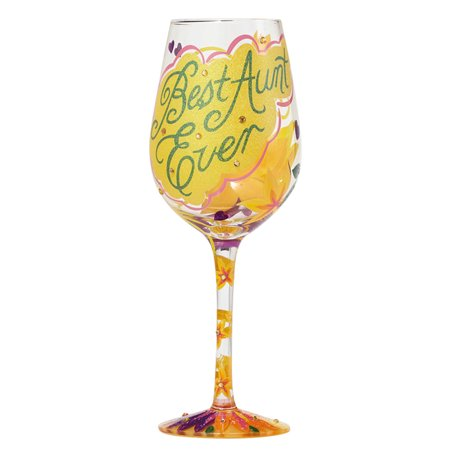 Best Ever Wine Glass Aunt by