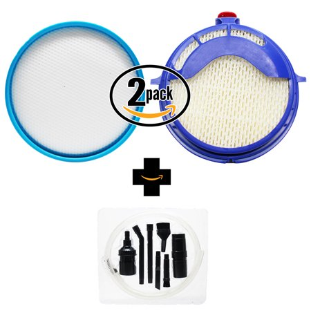 2-Pack Replacement Dyson DC25 The Ball Upright Models Vacuum Post & Pre-Motor Filter Kit with 7-Piece Micro Vacuum Attachment Kit - Compatible Dyson 916188-05, 914790-01 Post-Motor & PreFilter - image 4 de 4