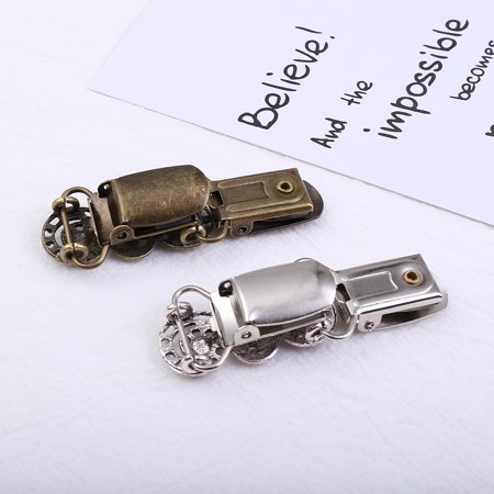 Sweater Clip Delicate Alloy Brooch Cardigan Clamps Vintage Design Easy Matching Women Girls Favors Ancient silver - image 7 de 8