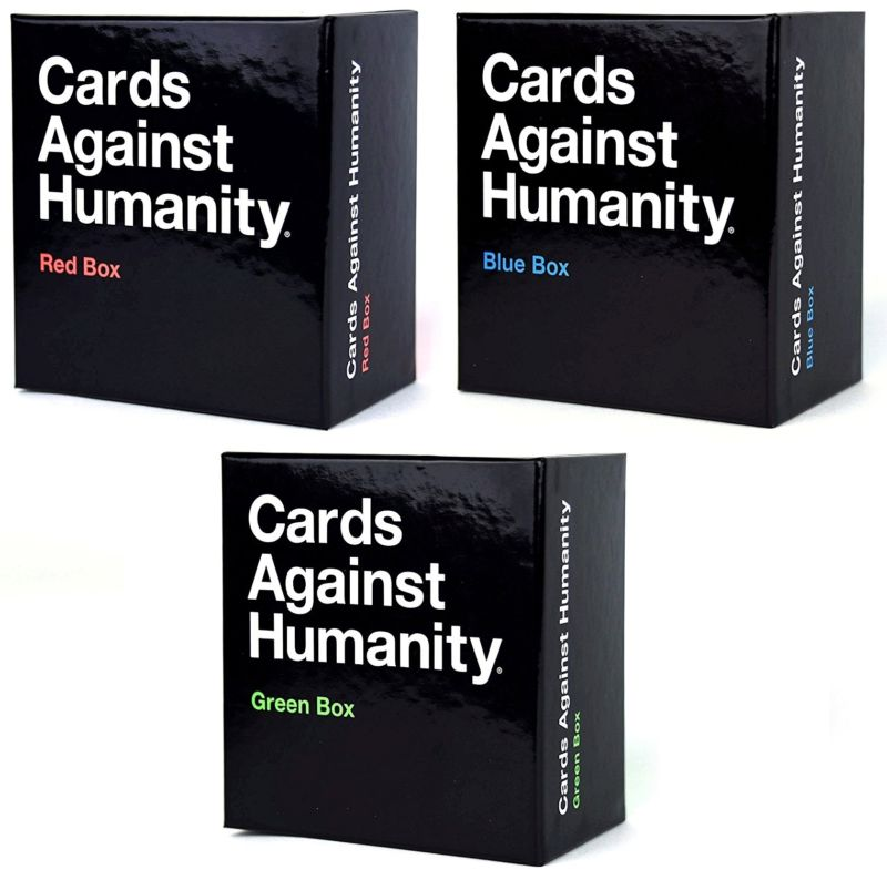 Cards Against Humanity Red Green Blue Boxes by