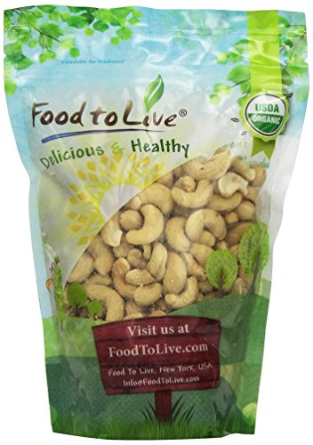 Food To Live Organic Cashews (Whole, Raw) (1 Pound) by Food To Live