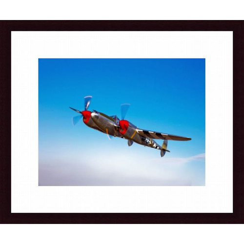 Printfinders A Lockheed P-38 Lightning Fighter Aircraft in Flight Photographic Print