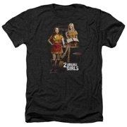 2 Broke Girls Max & Caroline Mens Heather Shirt