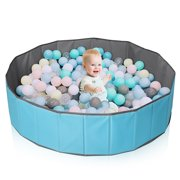 AUGIENB Ocean Ball Pool Tent Folding Ball Pit Baby Children Toy Pool Baby Playpen  Fence Playhouse Toddler Ball Toy Storage Pool for Boys Girls