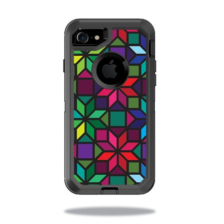 Skin For Otterbox Defender Iphone 7 Case   Stained Glass Window   Mightyskins Protective  Durable  And Unique Vinyl Decal Wrap Cover   Easy To Apply  Remove  And Change Styles   Made In The Usa