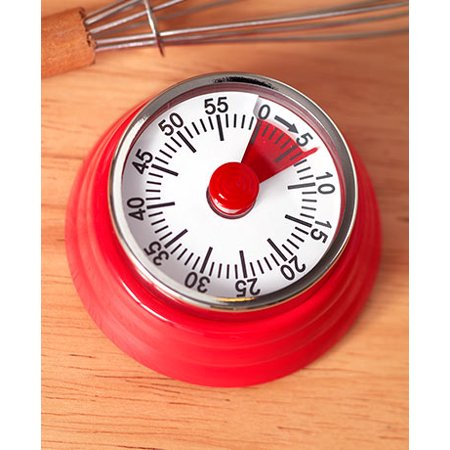 The Lakeside Collection 60-minute Retro Magnetic Kitchen Timer - Red