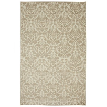 Mohawk Prismatic Area Rugs - Z0378 A228 Traditional Oriental Beige Scallops Curves Curves Petals Rug