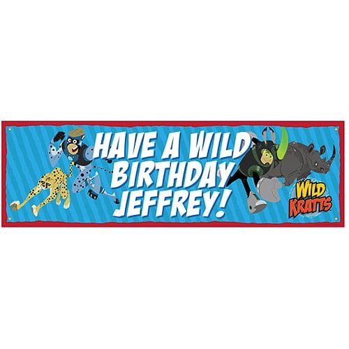 Personalized Wild Kratts Wild Birthday Banner