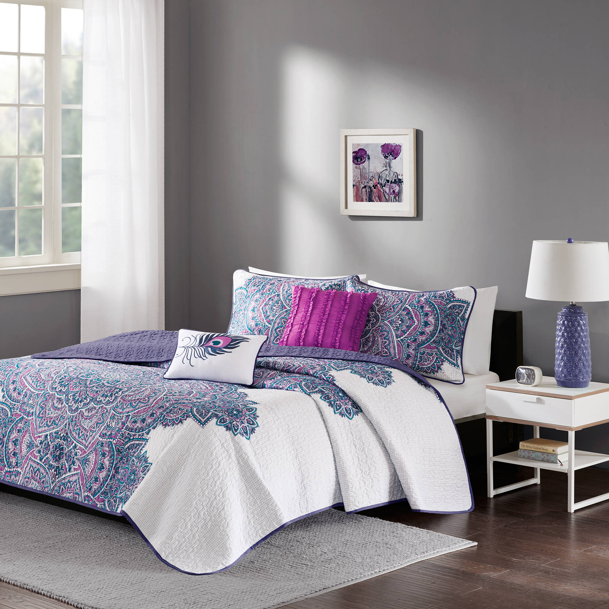 Click here to buy Home Essence Apartment Lolita Bedding Coverlet Set.