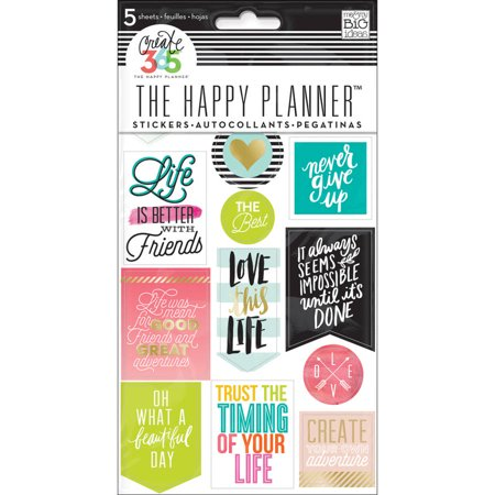 Create 365 Planner Stickers, 5 Sheets