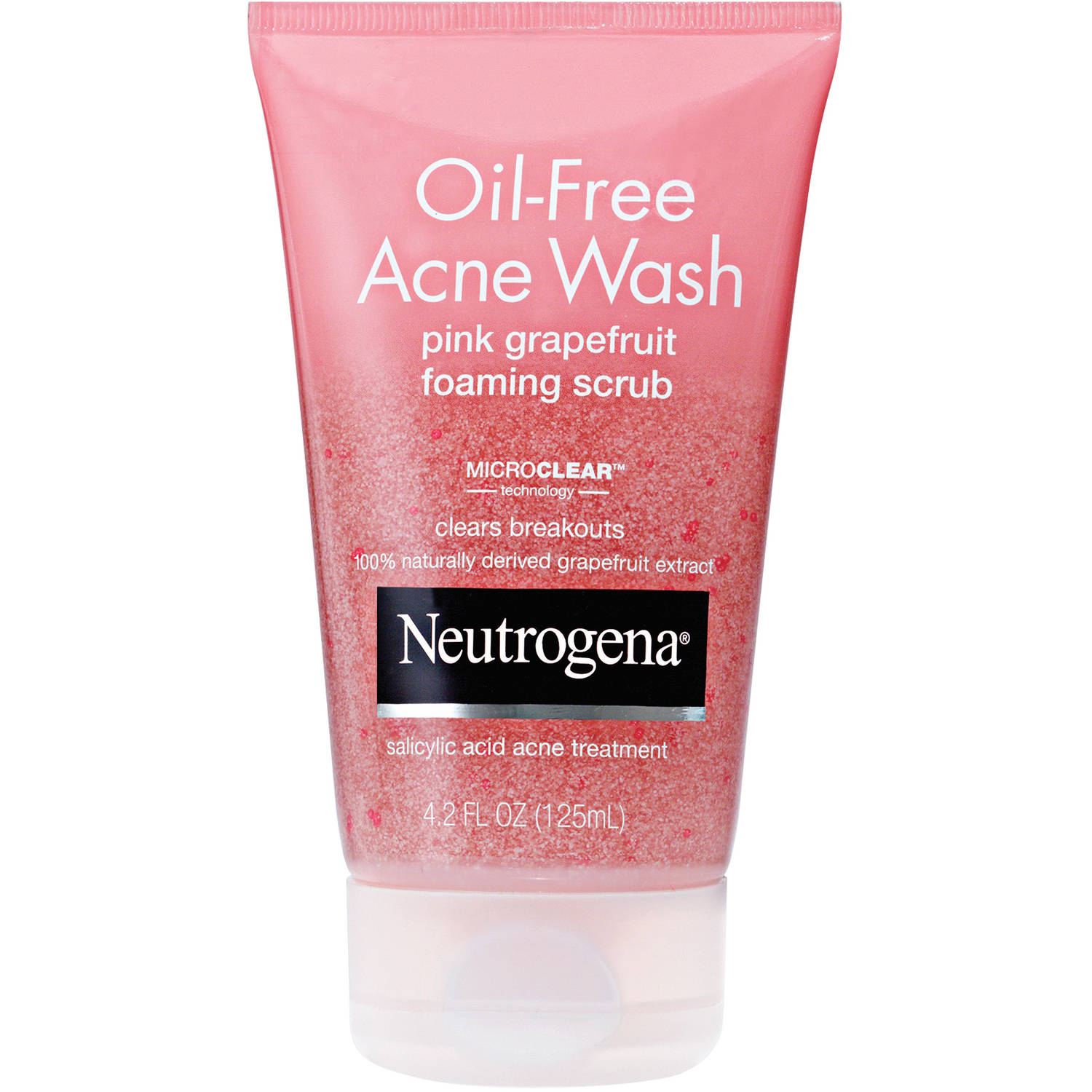 Neutrogena Oil-Free Acne Wash Pink Grapefruit Foaming Scrub, 4.2 fl oz