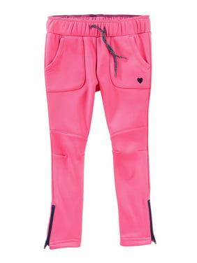 OshKosh B'gosh Big Girls' Tricot Track Pant, Pink, 10 Kids