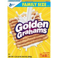 Golden Grahams Cereal, with Whole Grain, 19.6 oz