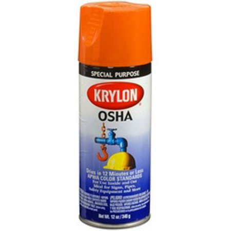 Duplicolor 2410 Krylon Osha Color Paints Safety Orange 12 Oz Aerosol