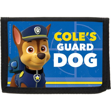 Personalized PAW Patrol Chase the Guard Dog Kids Wallet