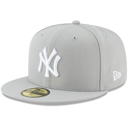 Basic Gray 59fifty Fitted Cap (New York Yankees New Era Fashion Color Basic 59FIFTY Fitted Hat -)