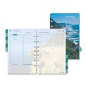 Day-Timer Coastlines Loose-Leaf Planner Refill Set - Two Page Per Day, 5-1/2 X 8-1/2 in, 12 Months, Jan - Dec
