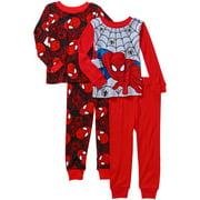 Baby Toddler Boy Cotton Tight-Fit Pajamas, 4-Piece Mix and Match Set