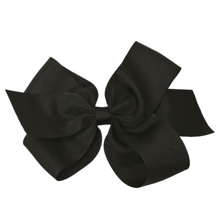 Reflectionz Girls Black Grosgrain Knotted Bow Stylish Hair - Halloween Hair Clippies