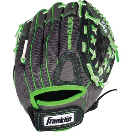 Franklin Sports PVC Windmill Series Right Handed Thrower Softball Glove - Gray/Lime Mesh (12.0u0022)