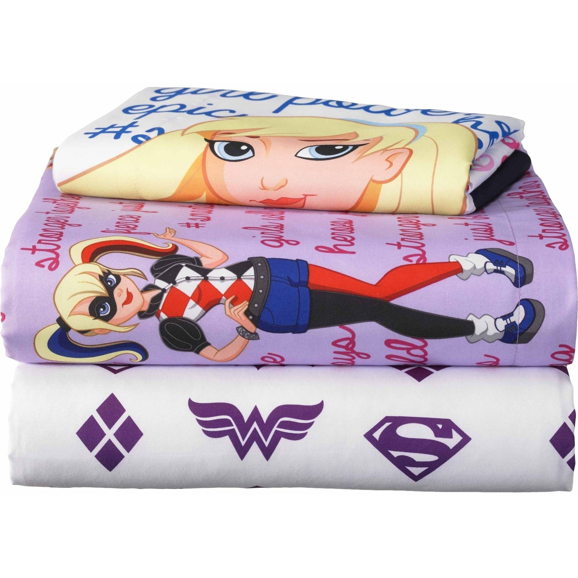 Warner Brothers DC Superhero Girls Comic Girl Bed In A Bag Bedding Set    Walmart.com
