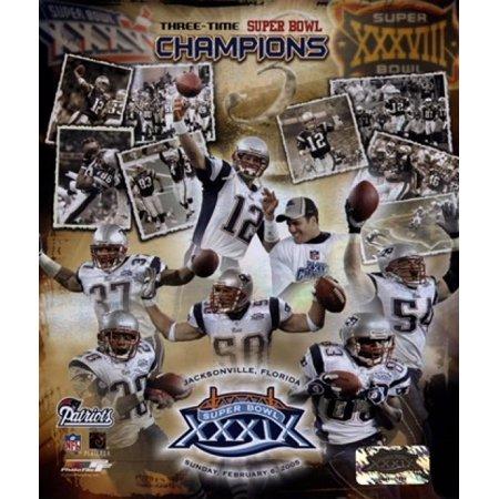 Patriots   3 Time Super Bowl Champions Composite Sports Photo