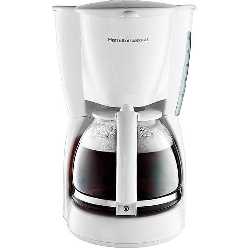 Hamilton Beach 12-Cup Coffeemaker, White