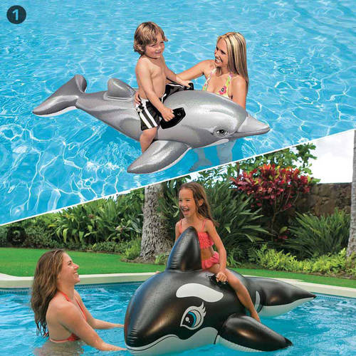 Intex Dolphin and Whale Swimming Pool Inflatable Ride-On Multipack by Intex