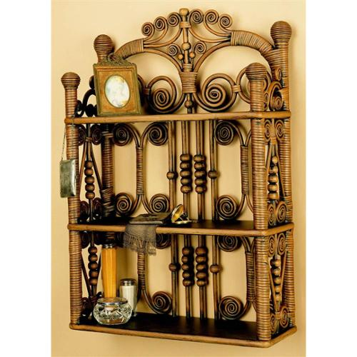 Wall Hanging Unit in Brown wash