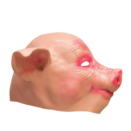 Kids Pig Mask (Child Size Latex Pig Mask Full Face Farm Animal Halloween Costume)